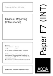 F7 Financial Reporting(INT)