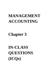 ICQs - Chapter 3 Questions