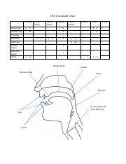 IPA chart - consonants pdf - IPA Consonant Chart Bilabial