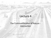 Lecture 4 - The Commodification of Nature