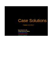 Excel Solutions - Cases