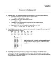 Homework 02 - Answers and Points
