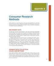 Appendix A_Consumer Research MEthods_ Consumer Behavior Building Marketing Strategy, 11th edition