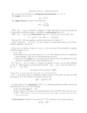 notes on orthogonal vectors