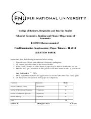 ECN 501 Final Exam Supplementary Question Paper 2014.docx
