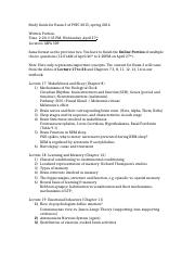 Study Guide for Exam 3 of PSYC 2015 (1)