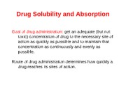 Lecture-02 Drug Solubility and Absorption