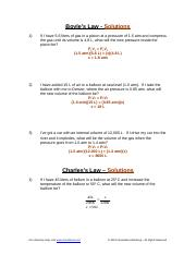 worksheet Gas Laws Sample problems with answers in red.doc
