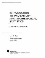 Introduction To Probability And Mathematical Statistics Bain Engelhardt Pdf