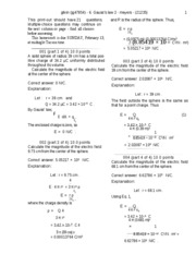 Gauss's law 2 -solutions