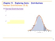 5.8 Normal Distribution