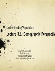 20150131-Lecture 3.1- Demographic Persepectives