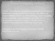Person  Centered Career Counseling