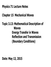Topic313 [Energy in Waves and Interference]