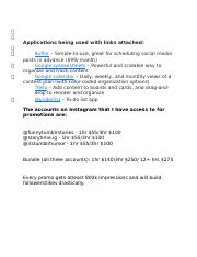 Account and Application Prices.docx