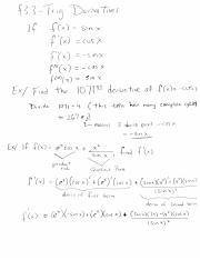 MATH 153 Fall 16 Lecture 18 Trig Derivatives