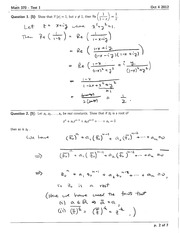 Math 370 Test 1 solutions