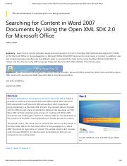 Searching for Content in Word 2007 Documents by Using the Open XML SDK 2.pdf