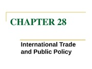 chapter 28 international trade and public policy