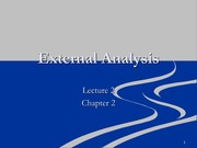 Lecture 2-External Analysis