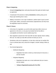 Notes on Steps to Negotiation 2