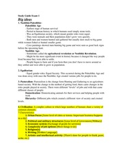 Study Guide Exam 1 Early Civilizations in the Middle East and Africa