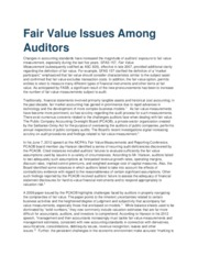 Fair Value Issues Among Auditors