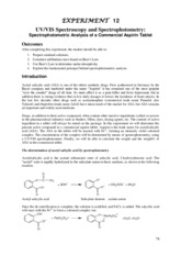 CHEM_103_Exp_12_Spectrophotometric_Analysis_Aspirin_Tablet NEW