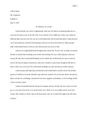 Of Mice and Men Writing Assignment.docx