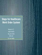 Steps for Healthcare Work Order System