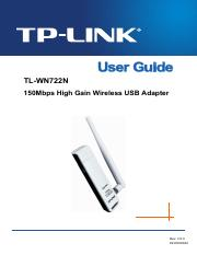 TP LINK TL-WN722N User Guide