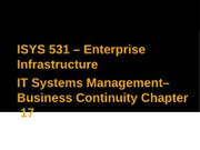 IT Systems Management - Chp17