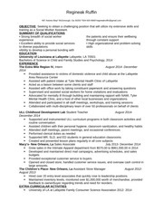 Social Worker Assistant resume