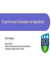 Chapter 4 -ExperimentalEvaluation