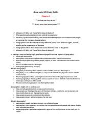 Geography 105 Study Guide (Chapter 1).pdf