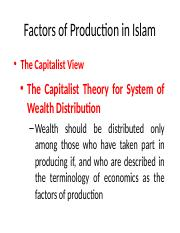 Lecture 5B - IF -  Factors of Production in Islam.pptx