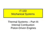 Thermal Systems III