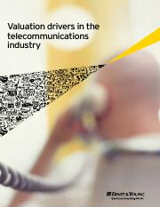 Valuation drivers in the telecommunications industry _(E&Y).pdf