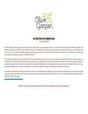 Olive Garden Nutrition Pdf Nutrition Information U S Restaurants