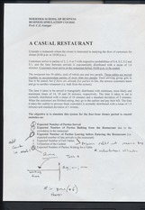 Casual Resturant Guidelines