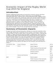 Economic Impact of the Rugby World Cup 2015 for England.docx
