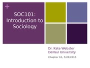 Chapter 10 Powerpoint; Social Institutions