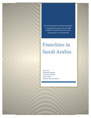 Franchise in Saudi Arabia _ Final Edition.docx