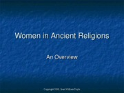 Women in Ancient Religions