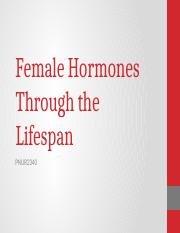 Hormones and Women Through the Lifespan.pptx