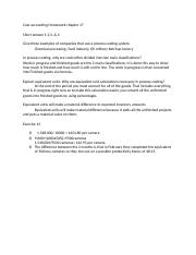 Cost accounting Homework chapter 17.docx