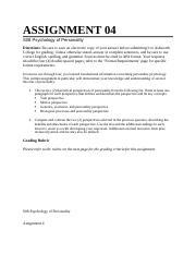 psychology assignment