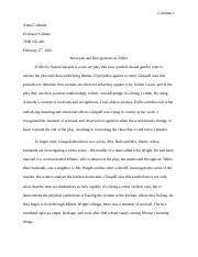 annotated bibliography for trifles by susan glaspell coleman  4 pages trifles recognition and reversal