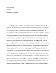 Kinsey Movie Essay for Psychology