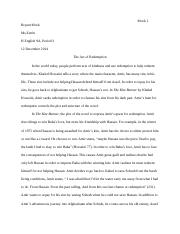 Thesis Statements  In The Kite Runner Khaled Hosseini Uses   Pages Kite Runner Redemption Essay